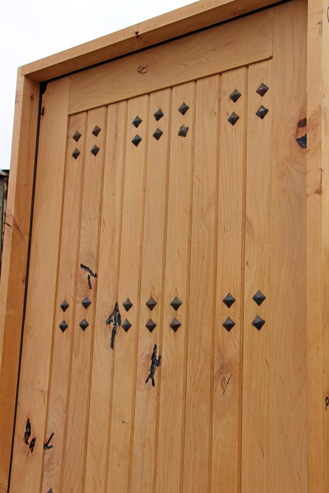 Rustic Exterior Single Doors Knotty Alder CL 611