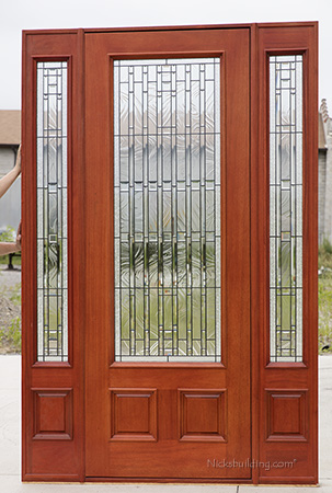 Exterior Mahogany Doors Pfc 252 Walnut Stained