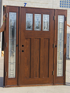 Craftsman Entry Door With Venting Sidelites