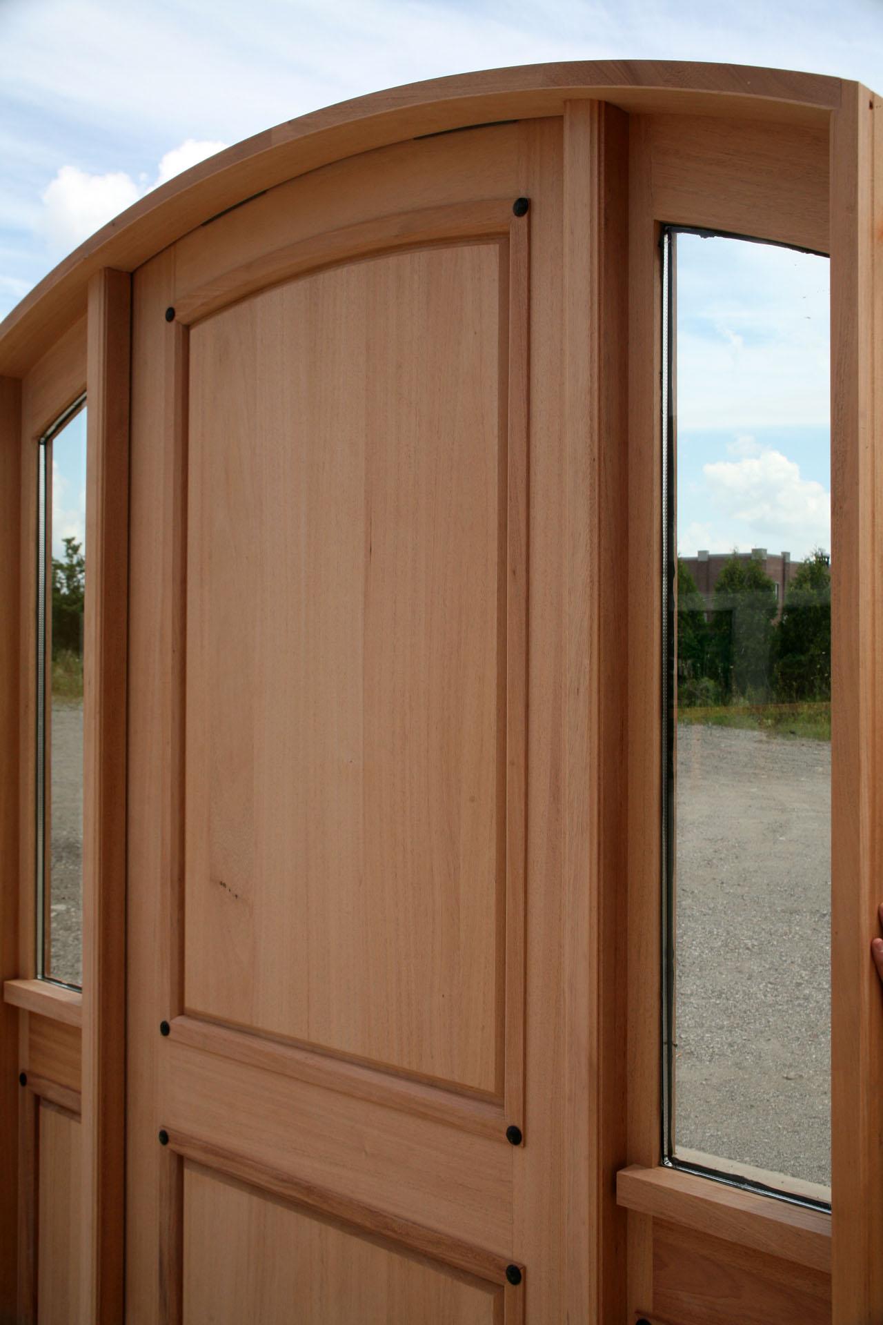 Custom Mahogany Door Radius Arched Top Door