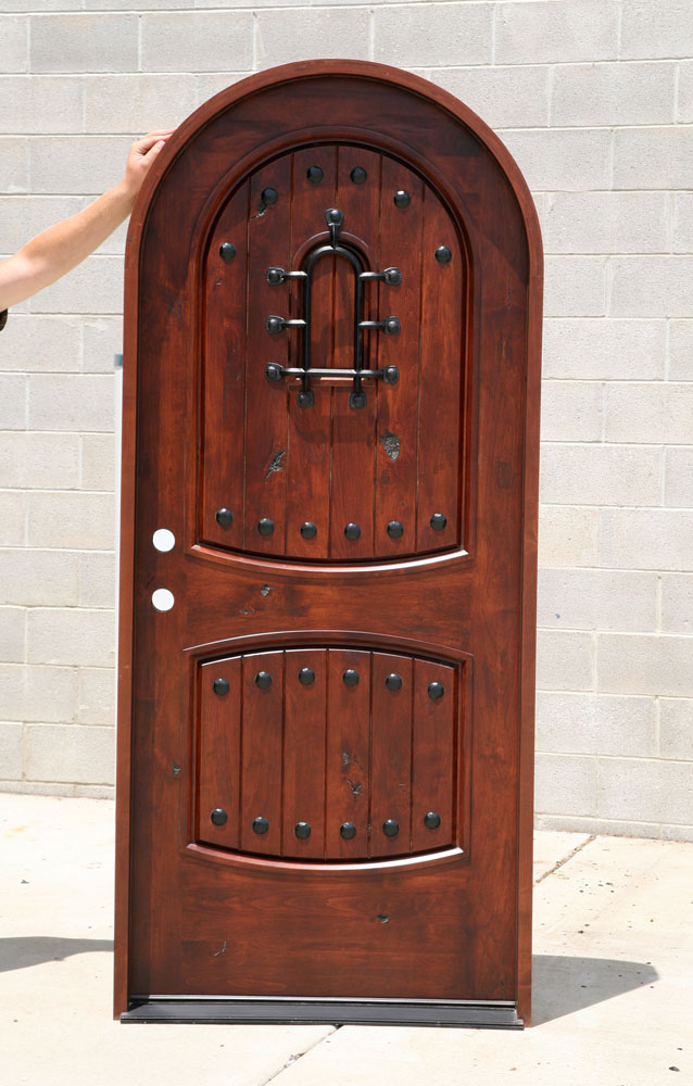 Southwest Series Doors Radius Top Knotty Alder Door