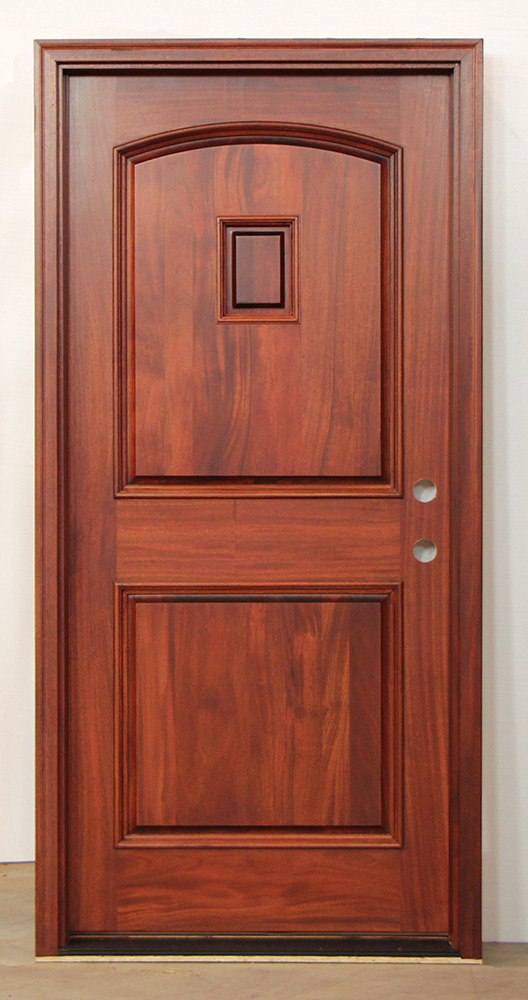 Exterior Mahogany Single Doors With Iron Nails And Grill