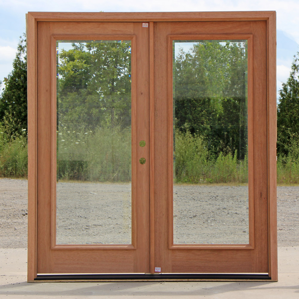 Full Lite Double Doors Clear Beveled Glass