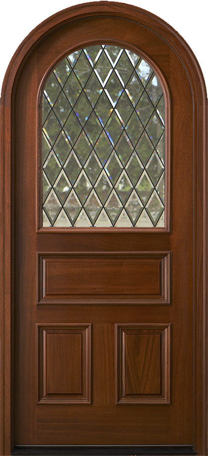 Arched Top Exterior Mahogany Doors