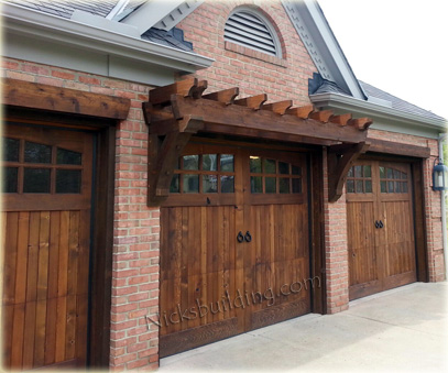 Wood overhead garage doors and carriage garage doors for for Rustic wood garage doors