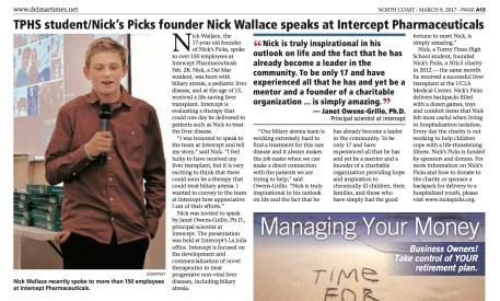 Nick's Picks Del mar times intercept