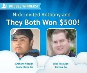Live To Win App Double Winners