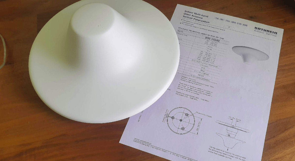 Indoor LTE/GSM/UMTS mobile antennas, primarily used for in building coverage.