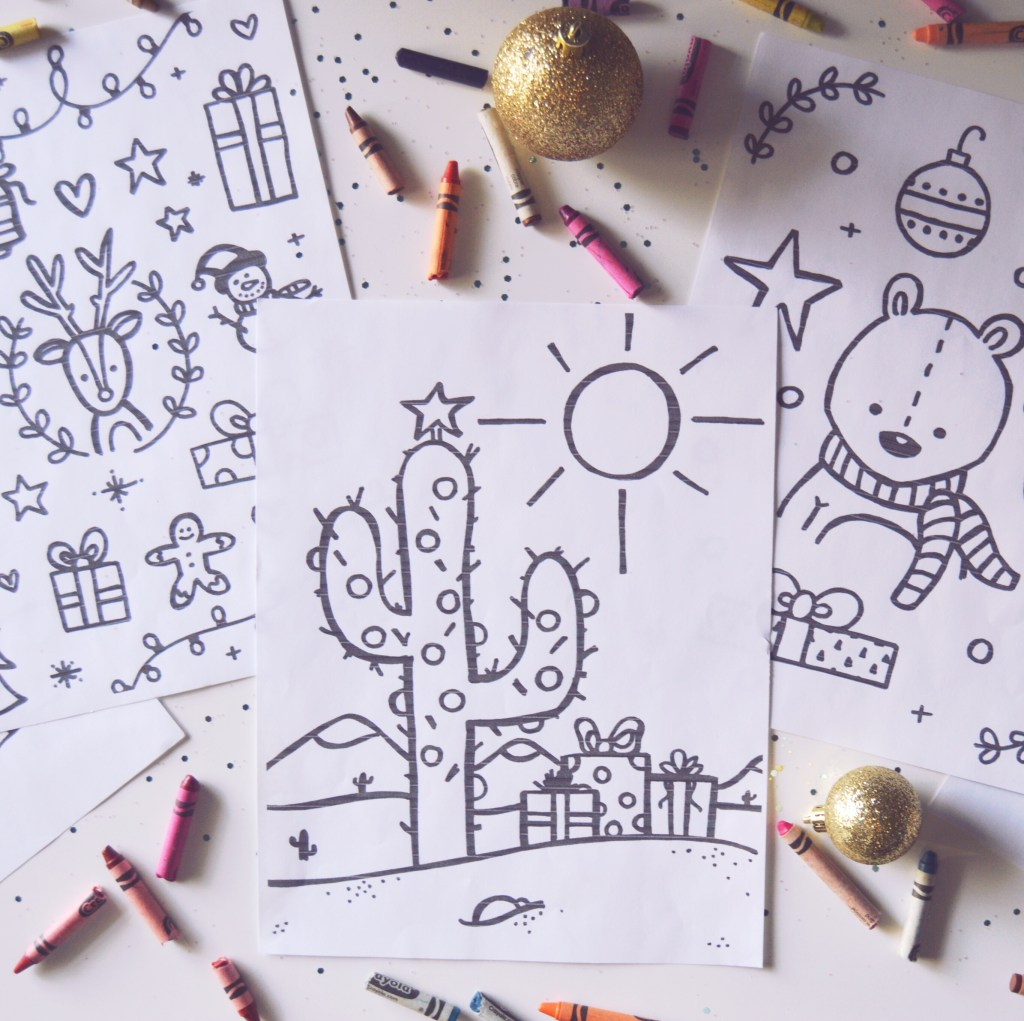 5 Holiday Coloring Pages for Kids!!