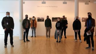 Visitors of the day: HND Photography students from City of Glasgow College, 1 May. Photo: Street Level Photoworks.