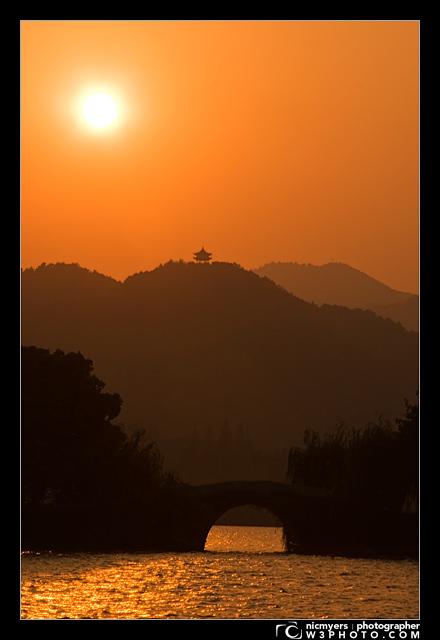 West Lake. Hangzhou, China. Xī Hú 西湖