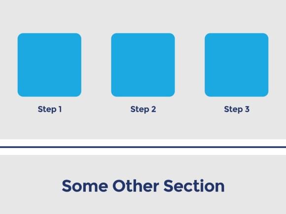 Big spacing between page sections