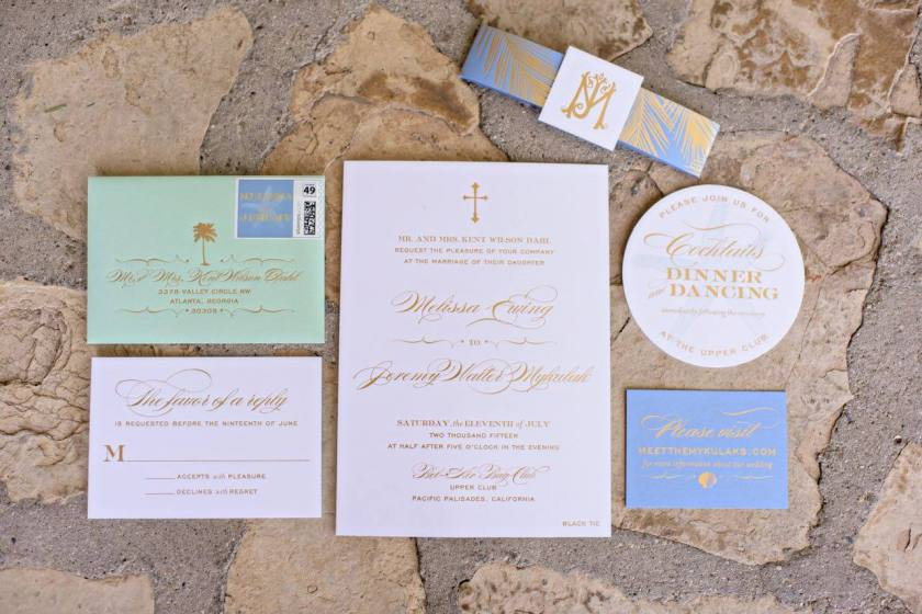 Melissa And Jeremy S Bel Air Bay Club Wedding Was The Perfect Mix Of West Coast Flair Southern Preppy Elements