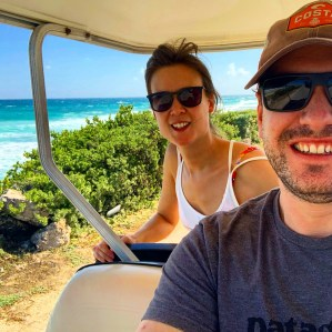 Things to do in Cancun: Hire a gold buggy on Isla Mujeres