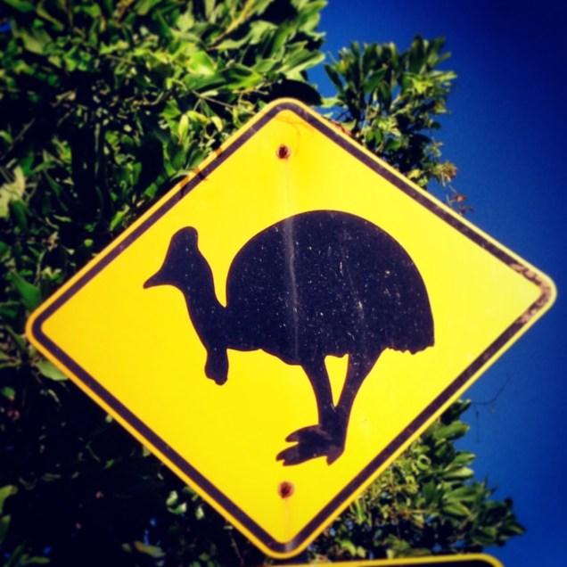 A Cassowary road sign