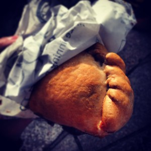 A Cornish pasty in Port Isaac