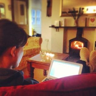 Blogging by the log burner
