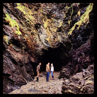exploring the caves in Port Isaac harbour