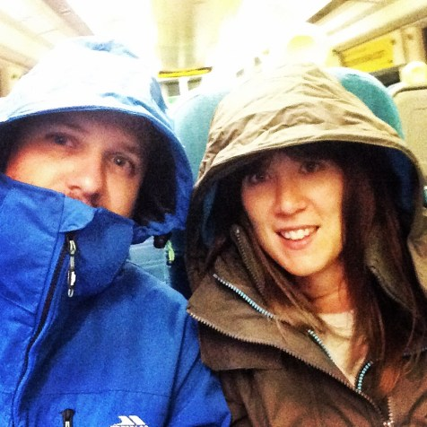 Matt and I ready for New Zealand in our new winter jackets!