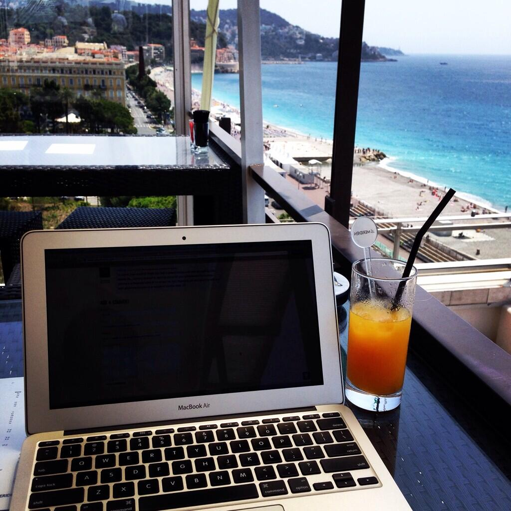 Blogging in Nice, france