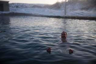 Matt at the Secret Lagoon