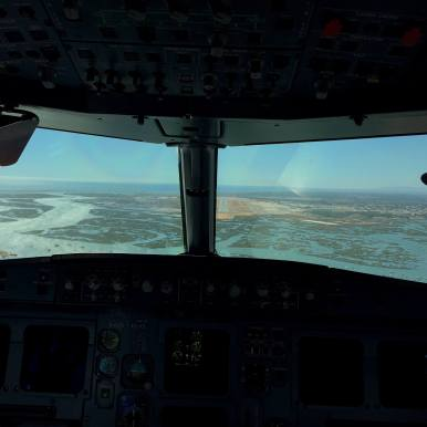 On the approach into Faro