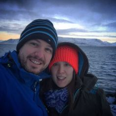 A chilly selfie at Reykjavik harbour