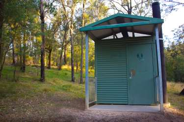 The 'dunny' at Euroka Campground, Blue Mountains National Park, Australia