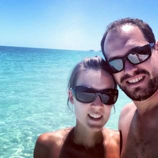 A selfie with Matt on Whitehaven Beach