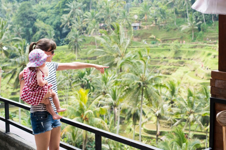 Emily and I admiring the view at Tegalalang Rice Terraces.