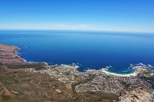 Views of Camps Bay from Table Mountain