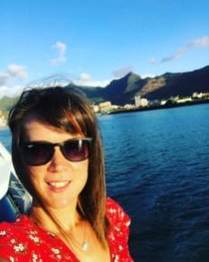 Boat trip selfie in Mauritius.