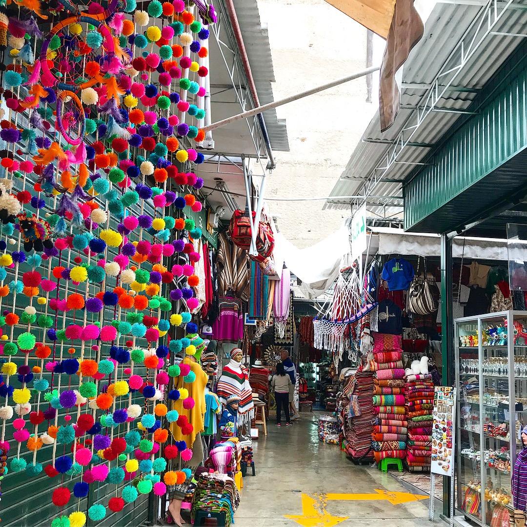 Indian Markets in Miraflores, Lima, Peru