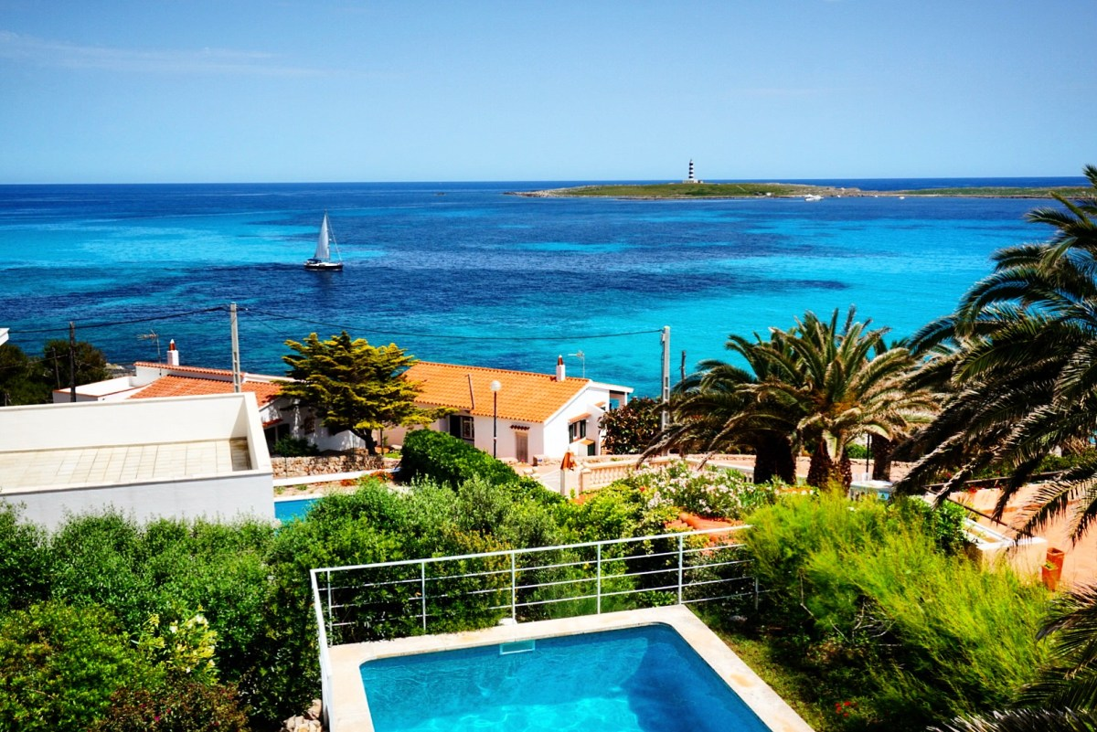 The views from our villa in Punta Prima, Menorca.