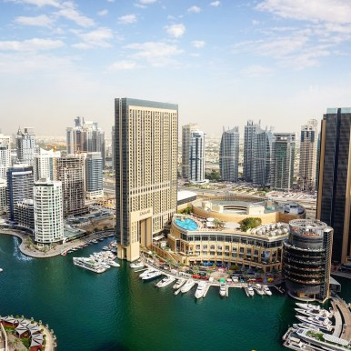 Views of Dubai Marina from Sama Lounge, Ramada Plaza, JBR
