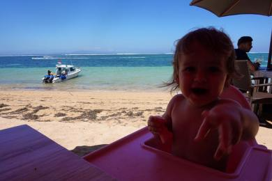 Baby friendly beach restaurant in Sanur, Bali