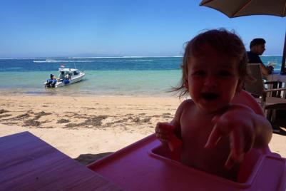 Baby friendly beach restaurant in Sanur, Bali