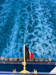 French flag, Brittany Ferries