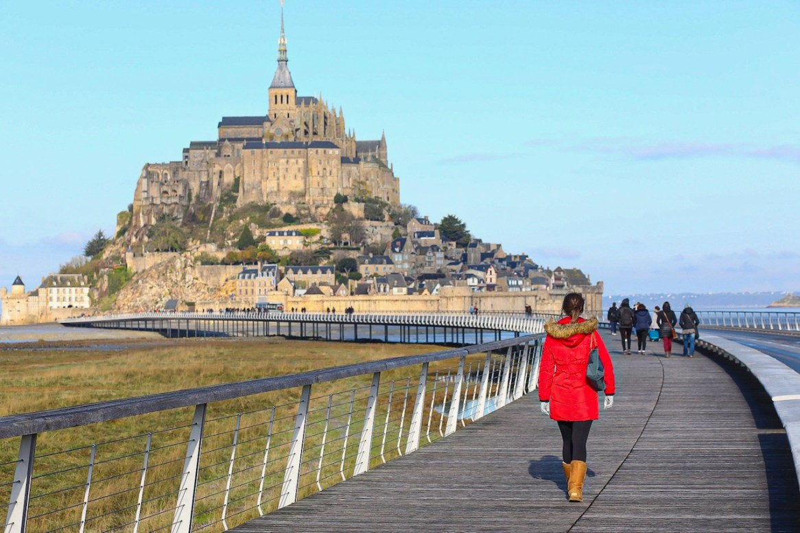 Walking to Mont Saint Michel