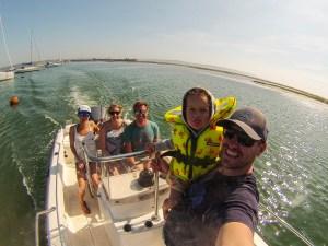 Boat selfie, Keyhaven