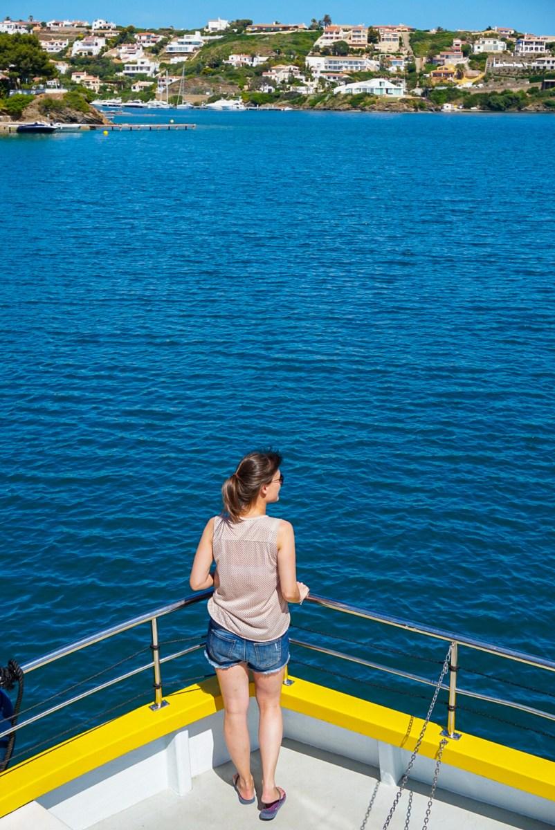 Boat trip around Mahon harbour, Menorca