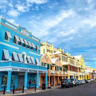 Front Street in Hamilton, Bermuda
