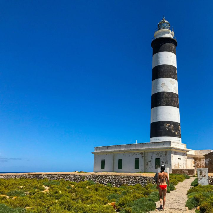 The lighthouse at Illa de l'Aire, Menorca