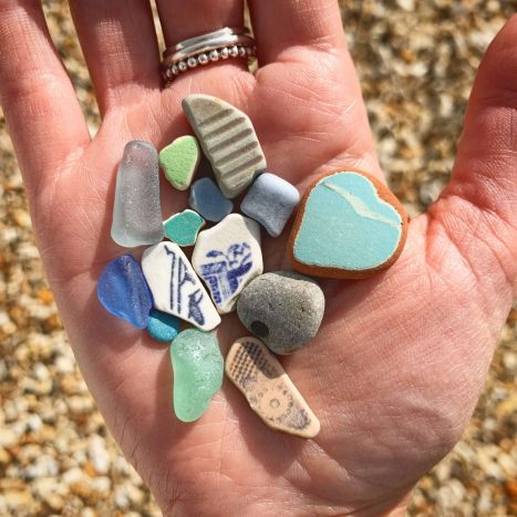 Sea glass and beach treasures from Dorset