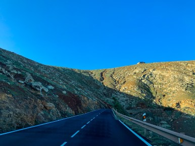 Driving the Betancuria mountain road, Fuerteventura