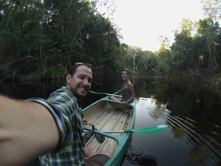 A kayaking selfie on the creek at Ferns Hideaway, Australia