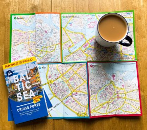 Pull out map from Baltic Sea Ports Marco Polo Travel Guide, Nicola Dunkinson