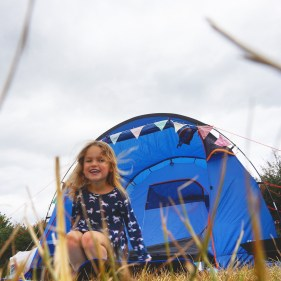 Camping at Harry's Field, Fordingbridge