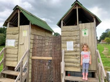 Compost toilets, Benville Manor Campsite