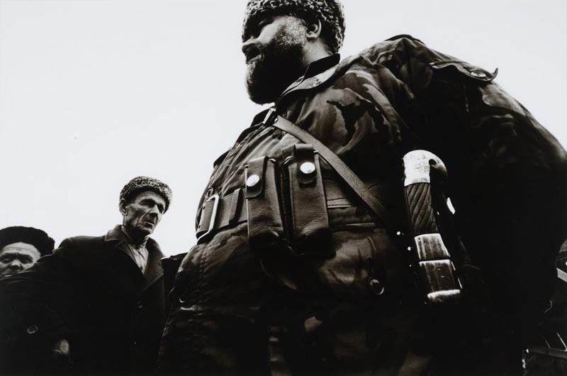 Stanley Greene, Omar Hadji Khasharov, tué par les Troupes Spéciales russes en mars 1995,